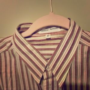 VINTAGE 1950's GIORGIO ARMANI Men's Striped shirt!